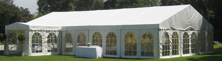 white marquee for wedding
